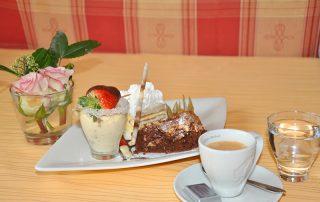 Dessertvariation mit Kaffee im Gasthof zur Linde