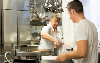 Küchenteam im Gasthof zur Linde