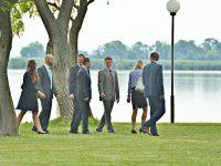 Eintreffen der Hochzeitsgäste am Zicksee