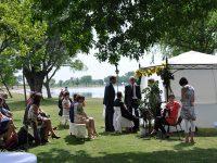 Hochzeitsgesellschaft am Zicksee