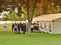 Abendstimmung bei der Hochzeit am Zicksee