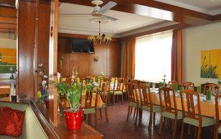Das Speisezimmer im Gasthof zur Linde