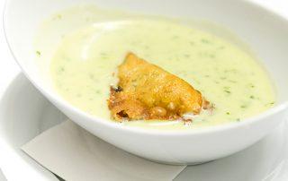 Cremesuppe im Gasthof zur Linde
