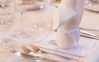 Gedeckter Tisch im Gasthof zur Linde