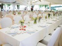 Papillon-Hochzeitszelt am Zicksee